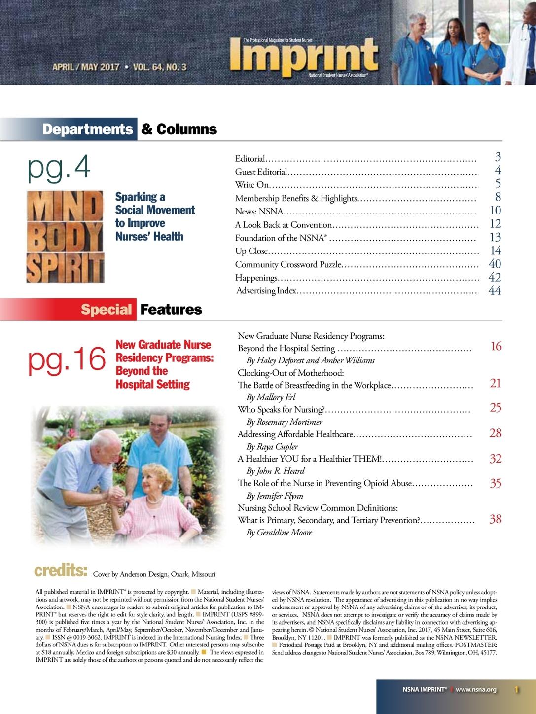 Imprint - The Professional Magazine for Student Nurses