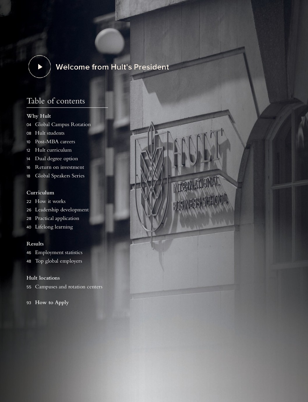 hult international business school mba brochure page 2
