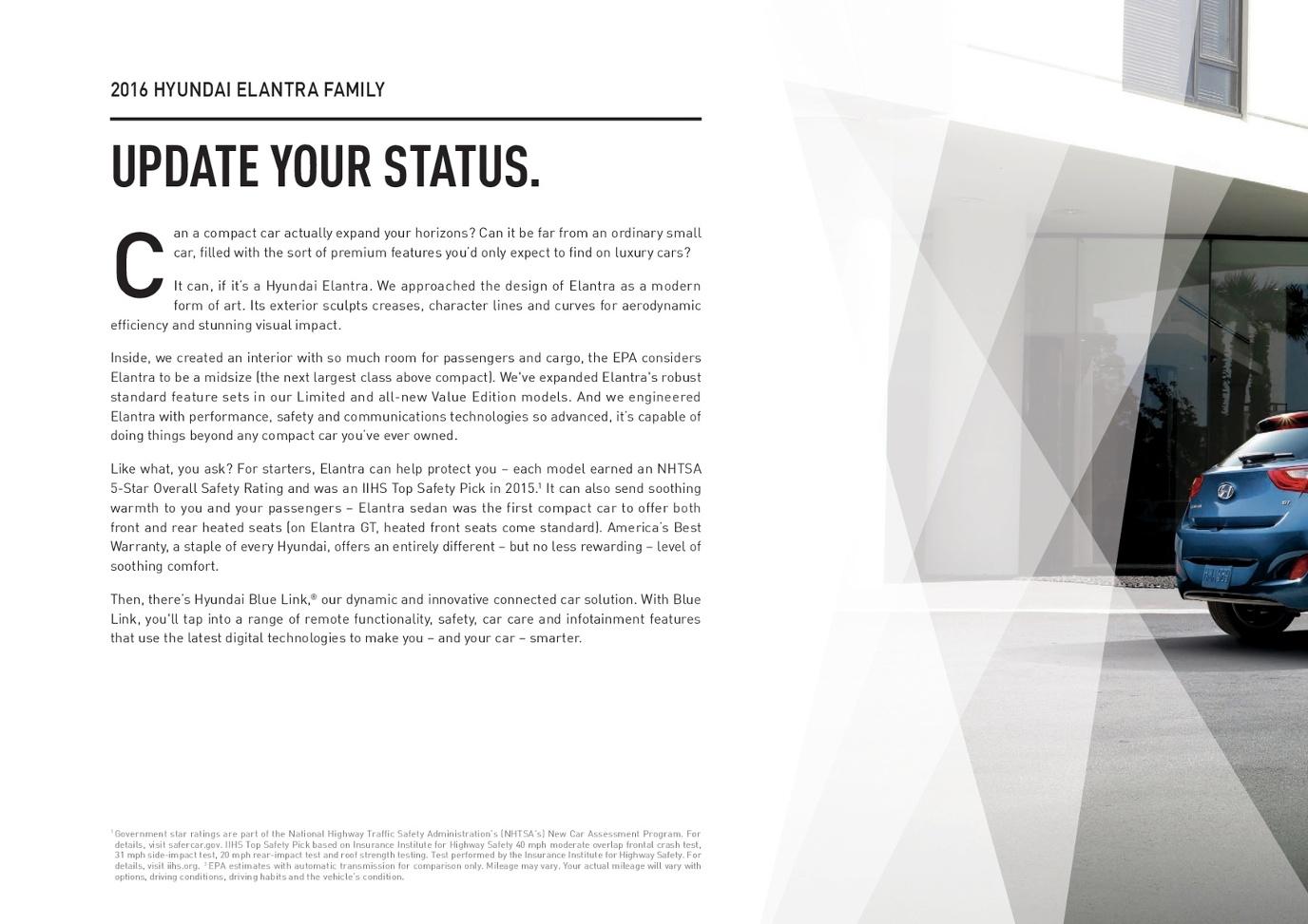 2016 Hyundai Elantra Brochure