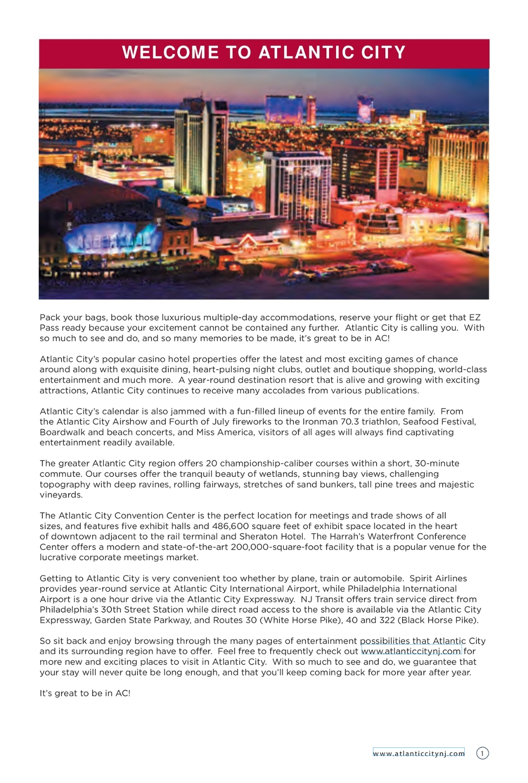 2018 Atlantic City Visitor Guide