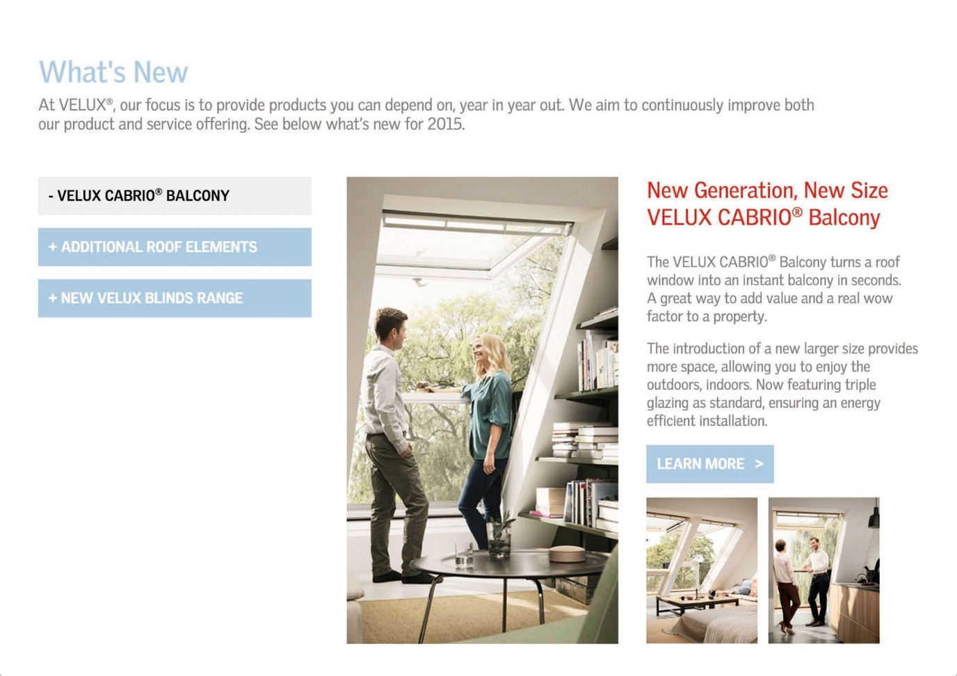 Velux Product Brochure 2015 Uk