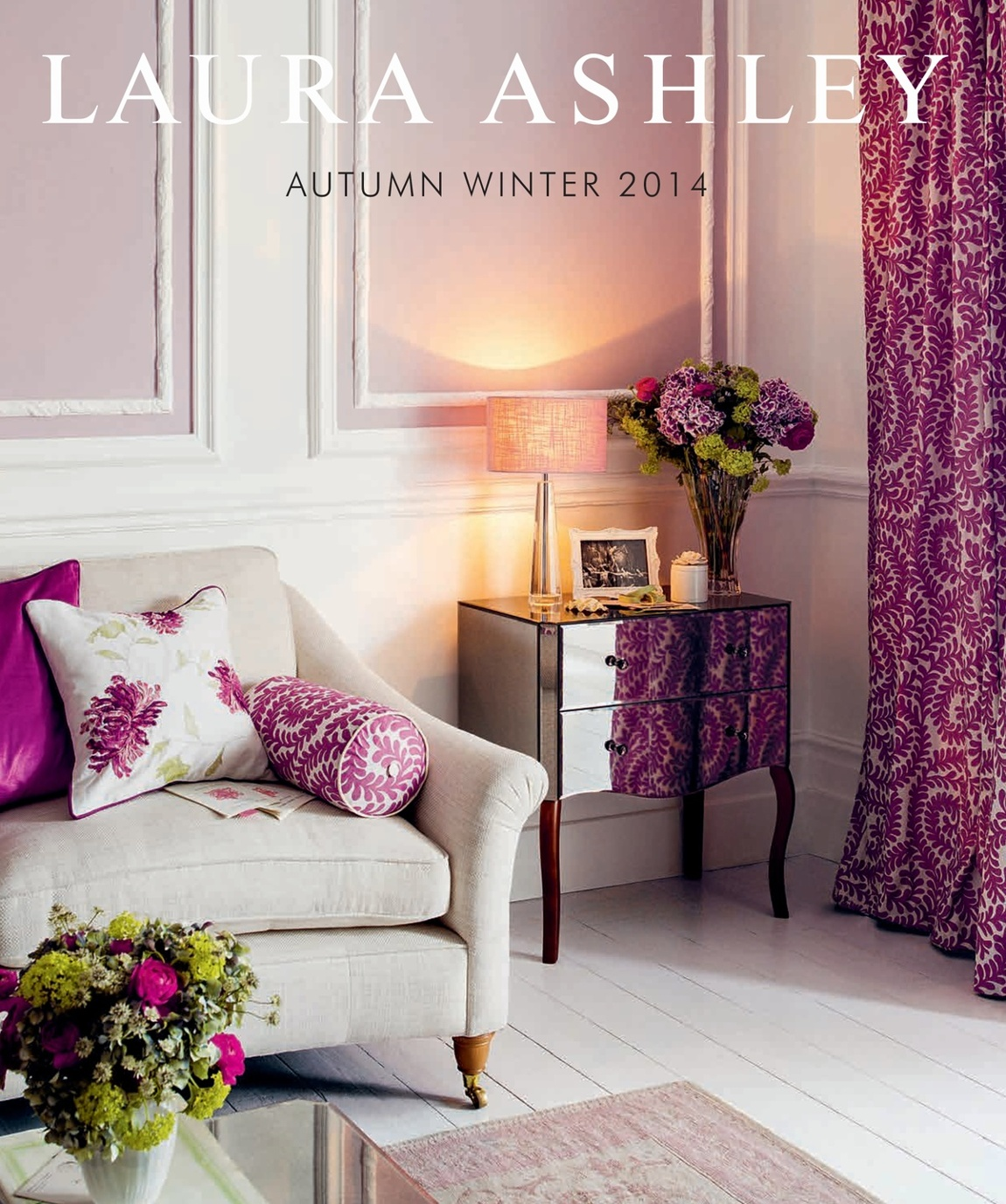 Laura Ashley AutumnWinter Catalogue - Laura ashley living room purple
