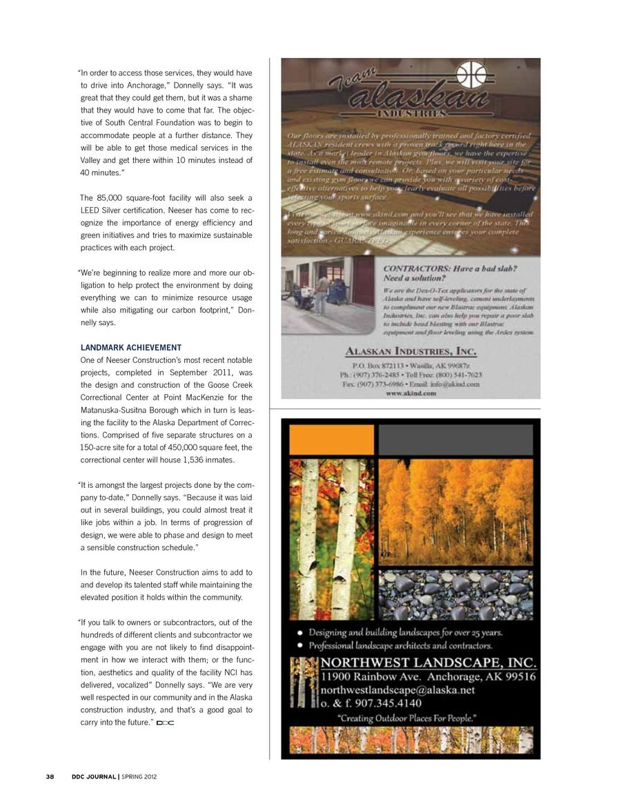 DDC Journal, Spring 2012 issue
