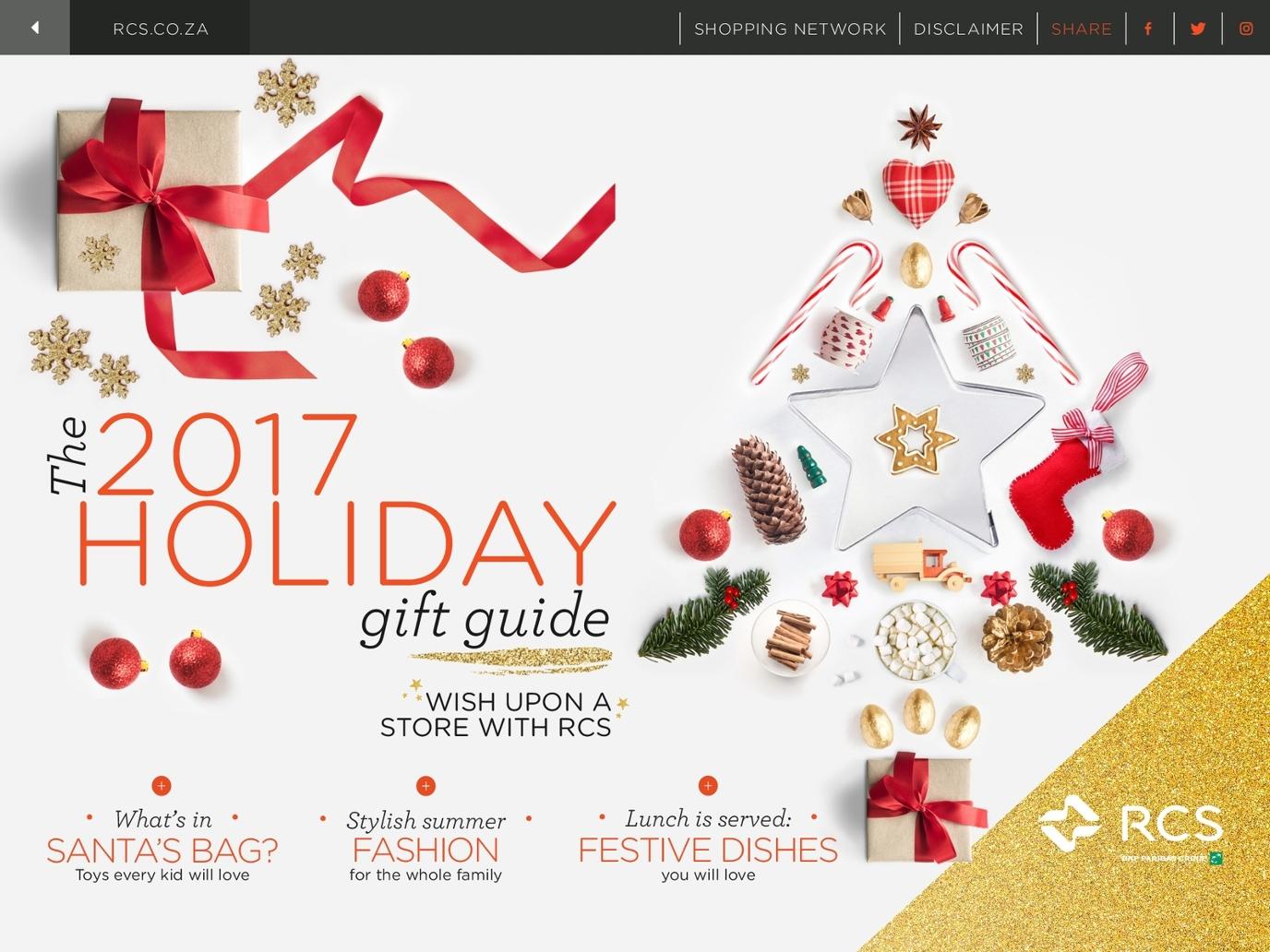 Christmas Gift Guide Catalogue.Rcs Holiday Gift Catalogue 2017