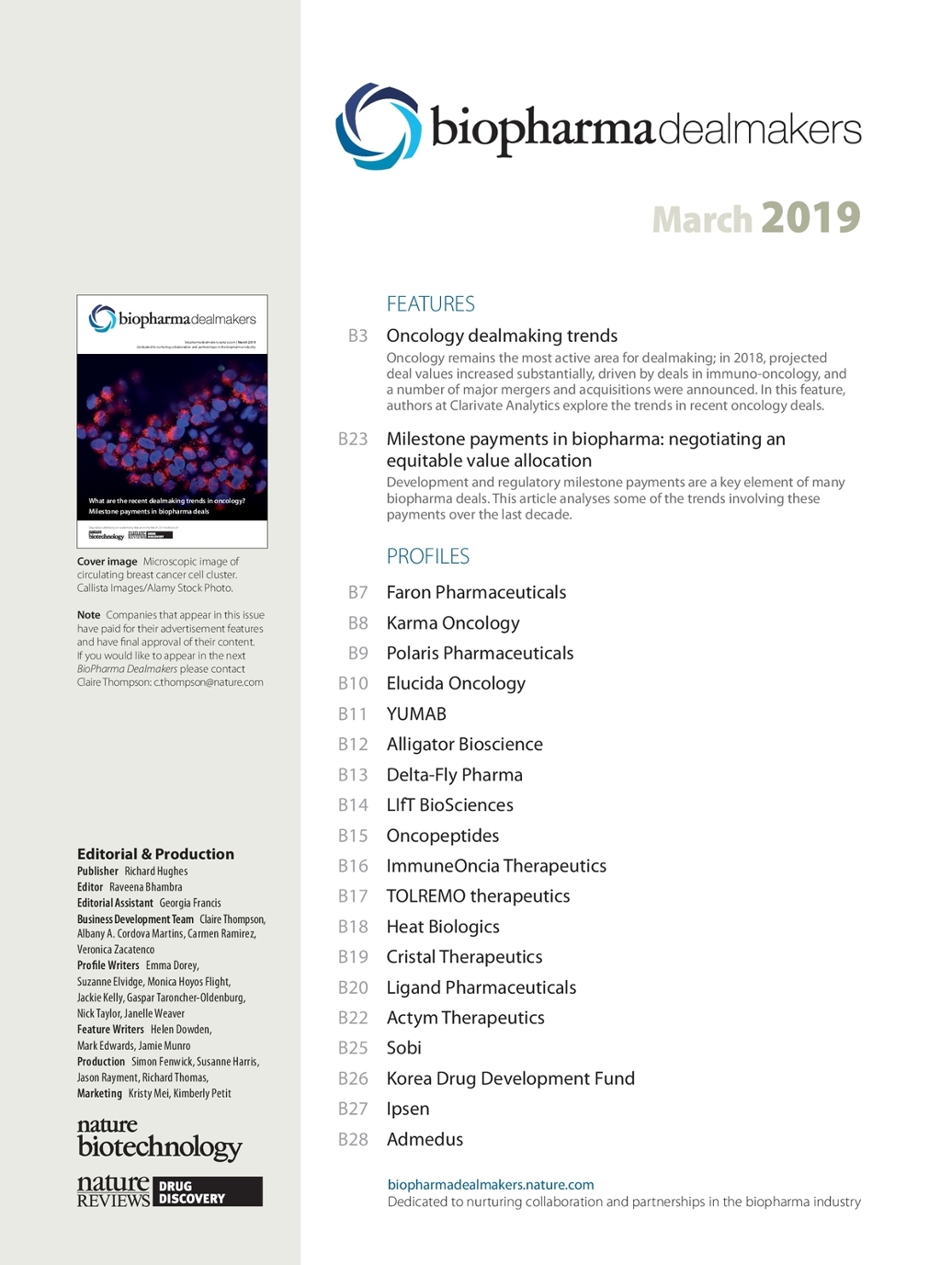 BioPharma Dealmakers March 2019