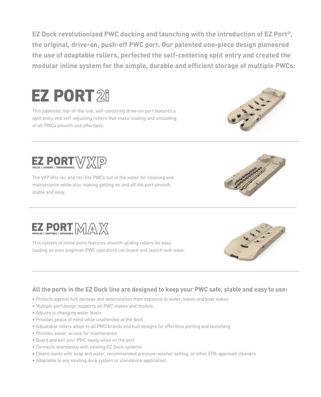 EZ Dock Full line 2 28