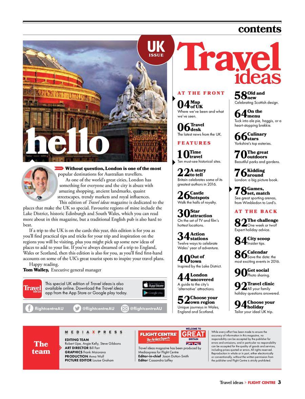 FCAU Travel Ideas UK