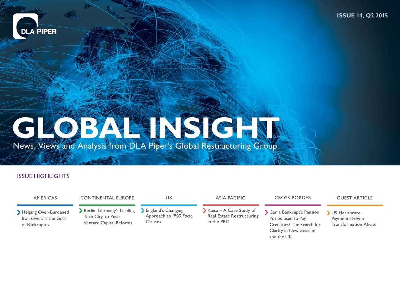 Global Insight Issue 14 - DLA Piper Restructuring e-Newsletter