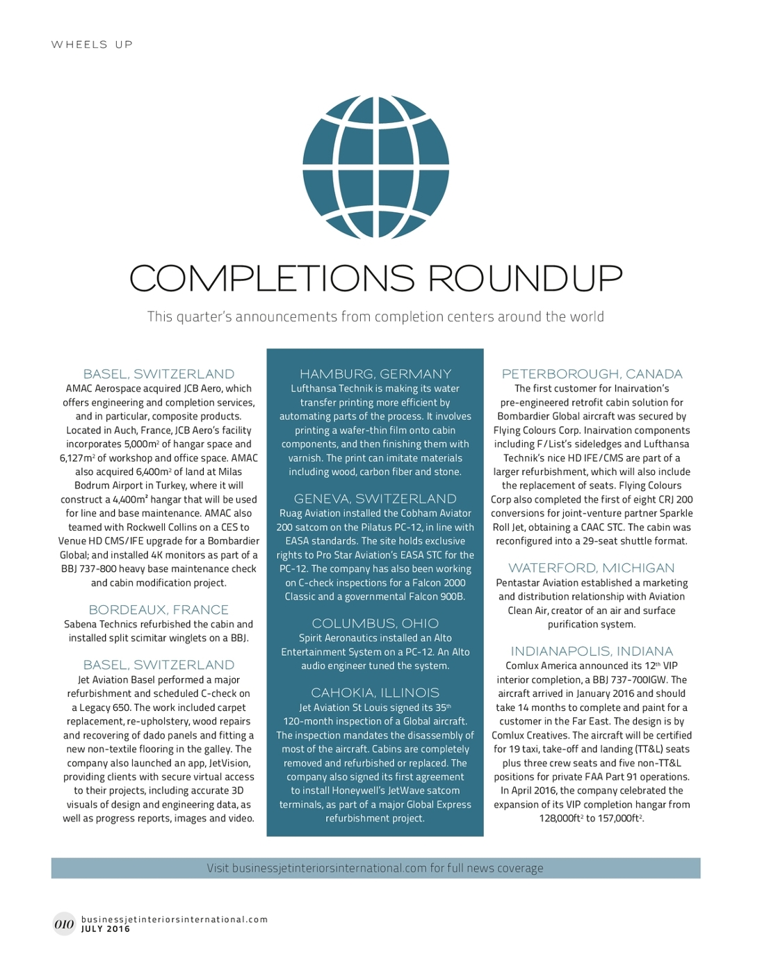 July 2016 Business Jet Interiors International - UKi Publication Viewer