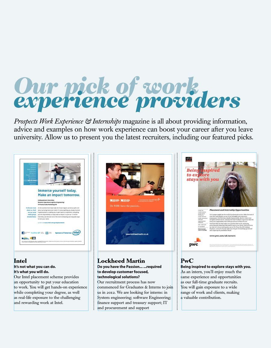 Work experience internships 2011 12pdf page 1 solutioingenieria Choice Image