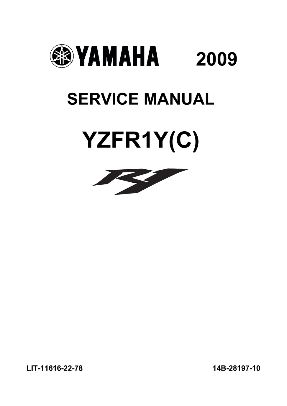 2009 YAMAHA R1 MANUAL PDF