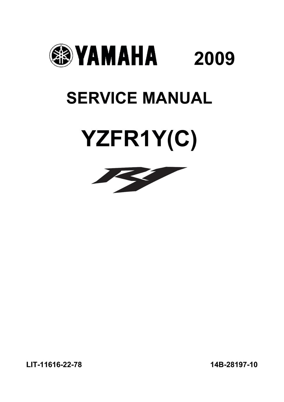 yamaha r1 2009 service manual flat rh viewer zmags com 2007 R1 2003 R1