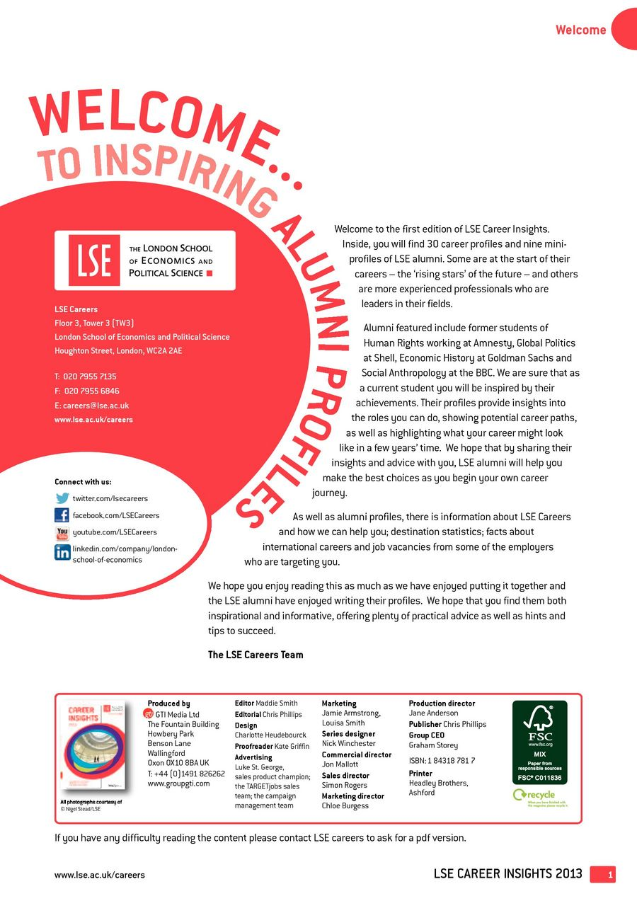 LSE Career Insights 2013