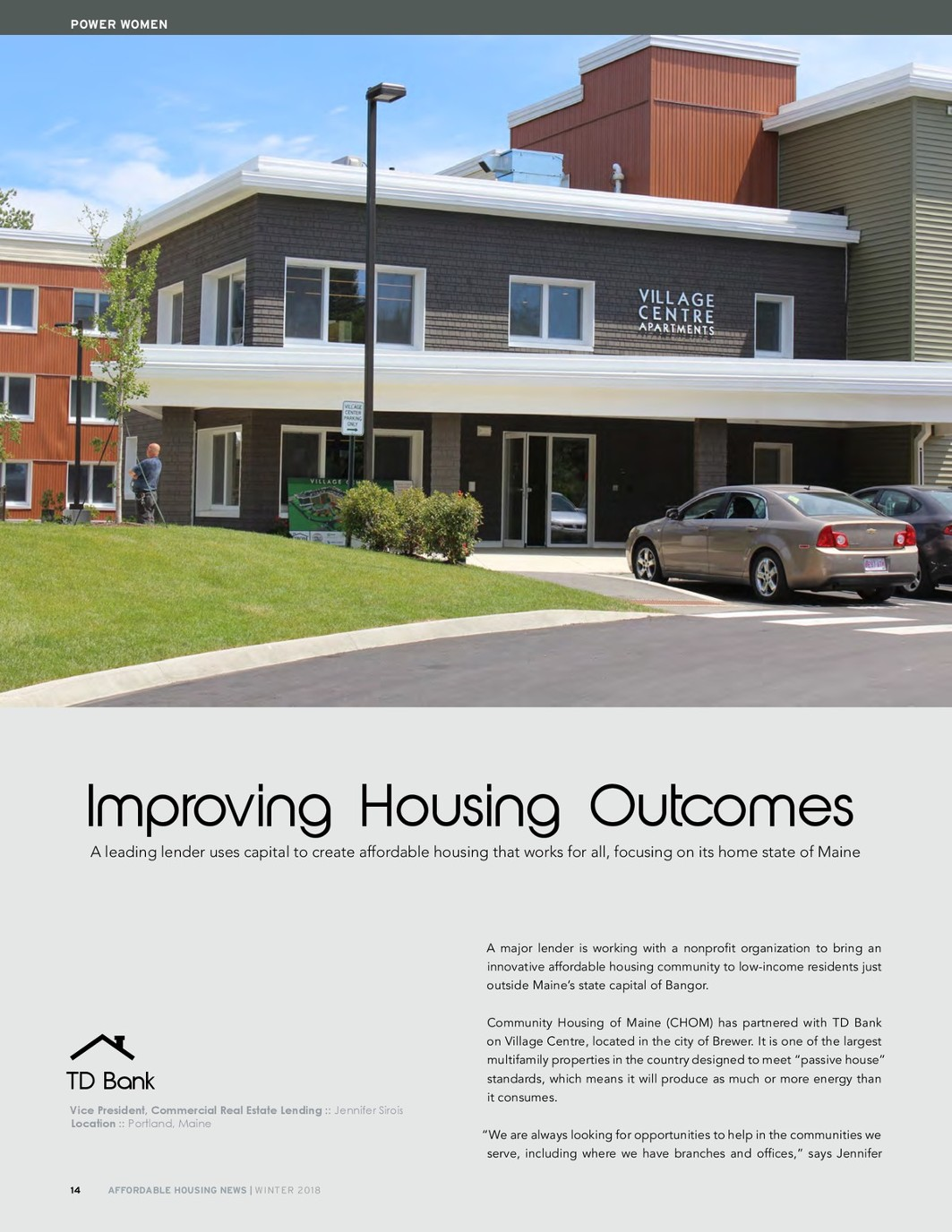 Affordable Housing News, Winter 2018 Issue