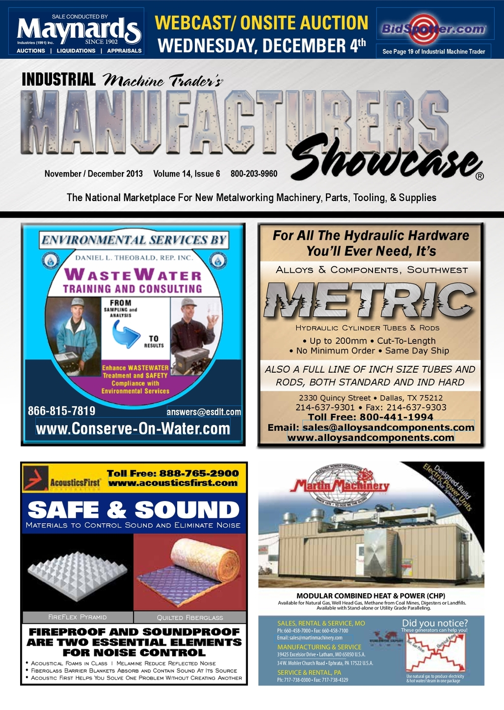 Manufacturers Showcase® November / December 2013