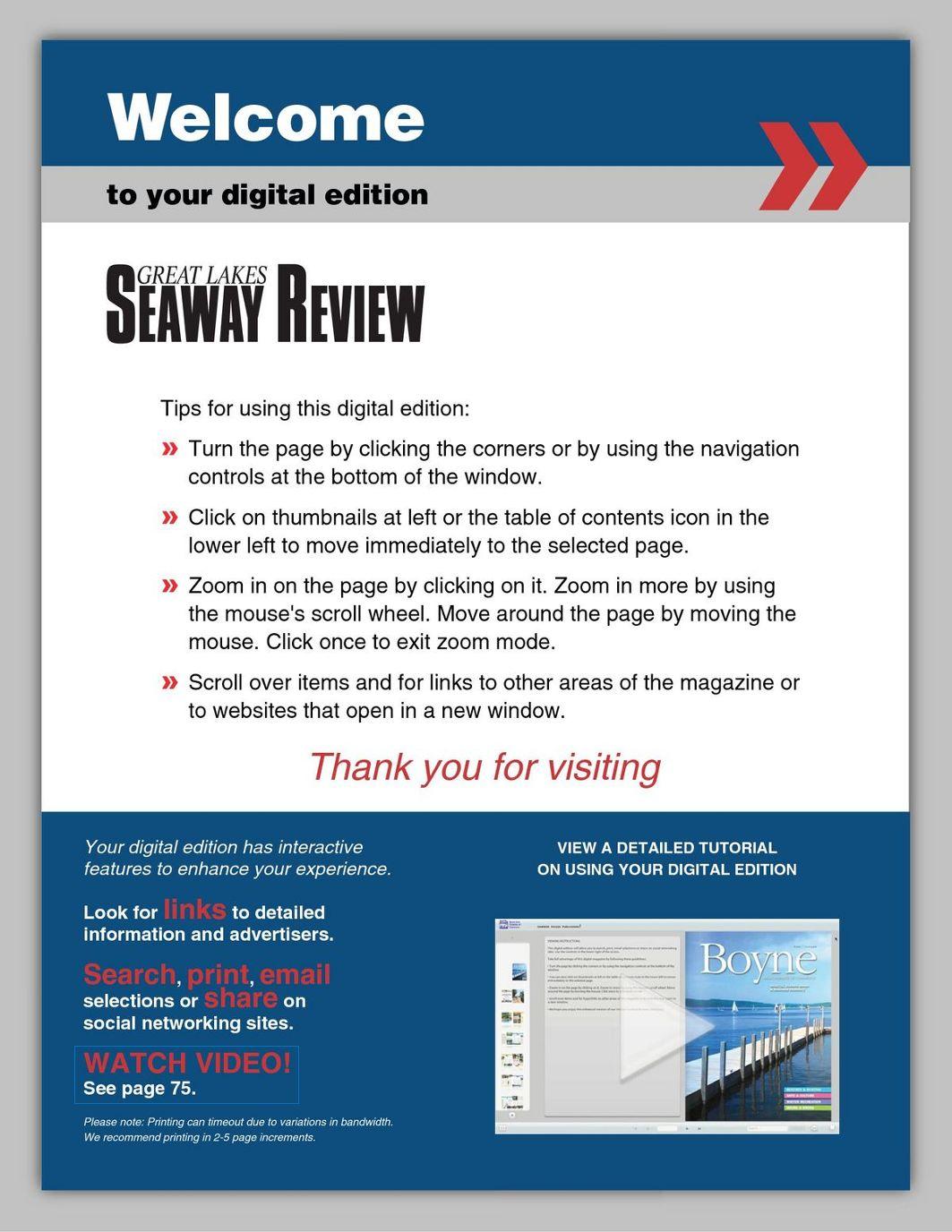 Great Lakes/Seaway Review