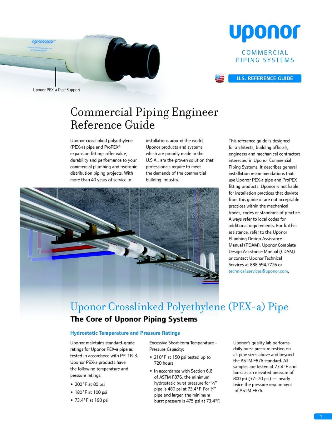 Uponor Commercial Piping Engineer Reference Guide