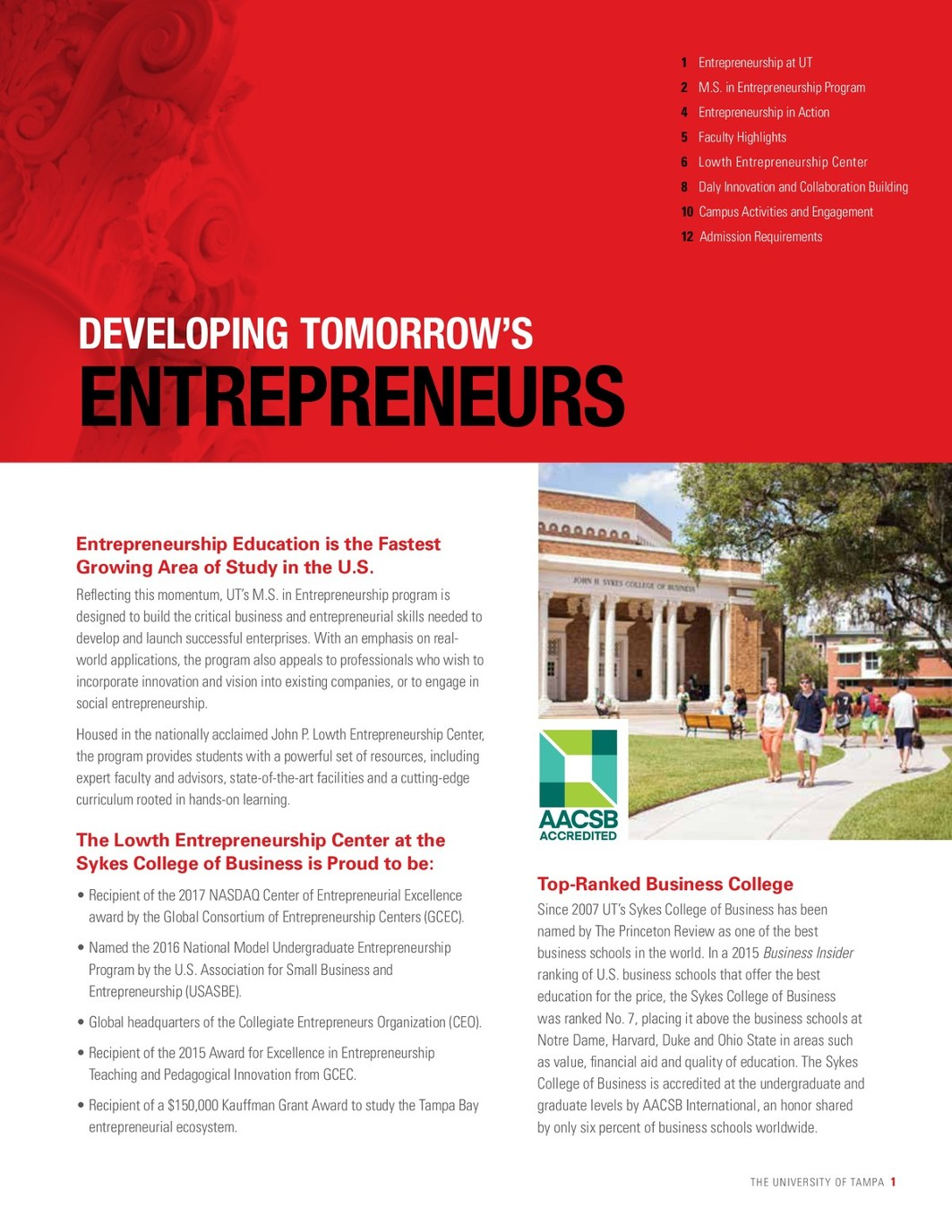 M S Entrepreneurship-Brochure-2018