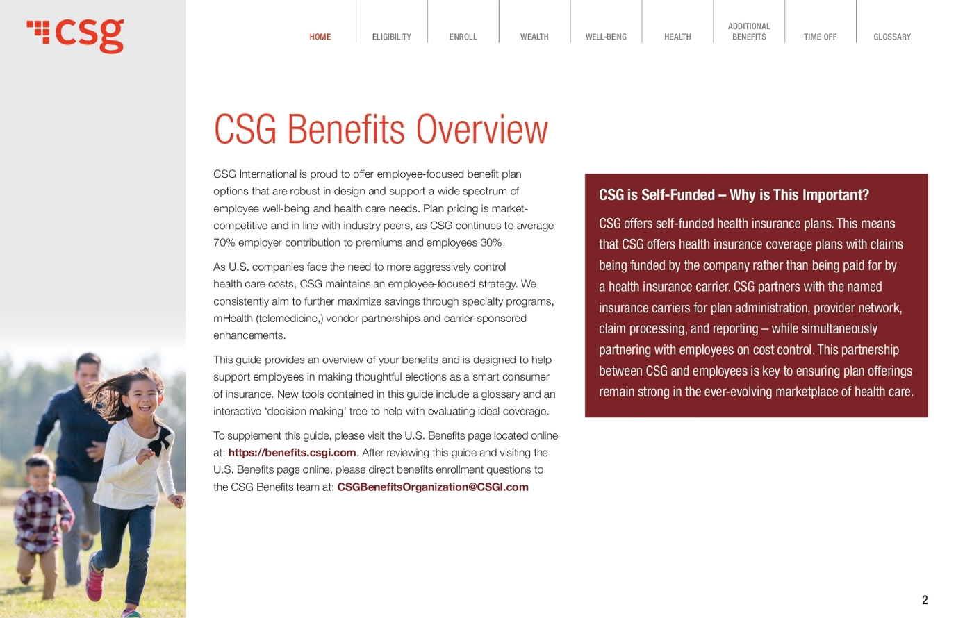 Insurance company CSG: feedback from employees and customers 58
