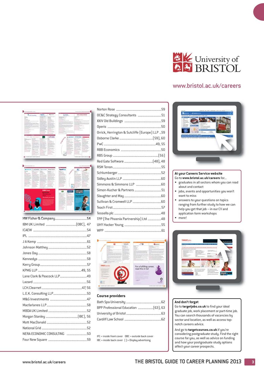 The Bristol Guide To Career Planning 2013