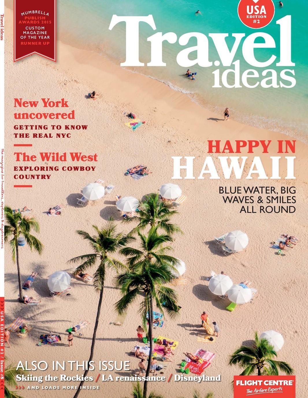 Travel ideas magazine