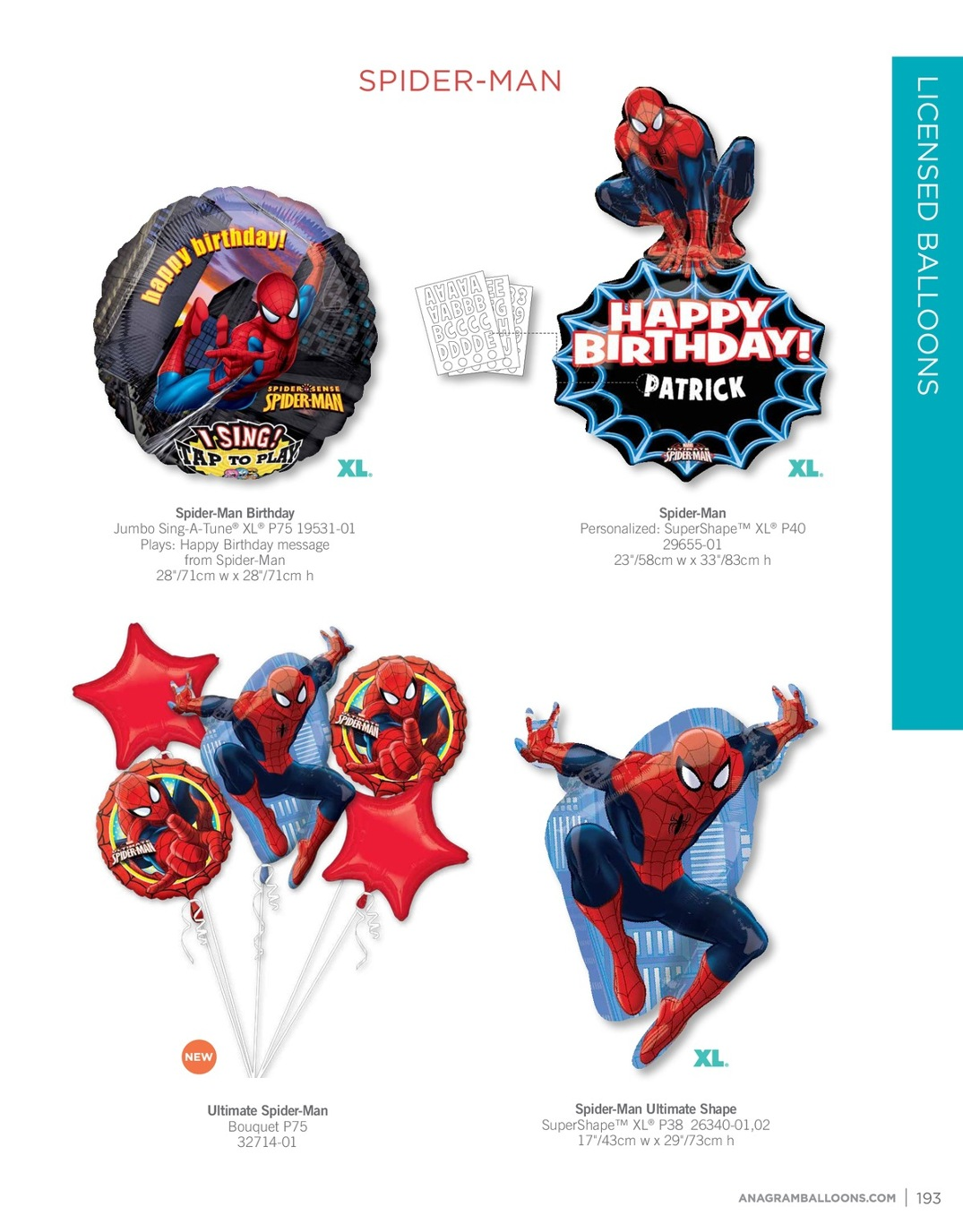 Multicolored 16 Anagram 30677 Happy Birthday Bright Stripe /& Chevron Orbz Foil Balloon