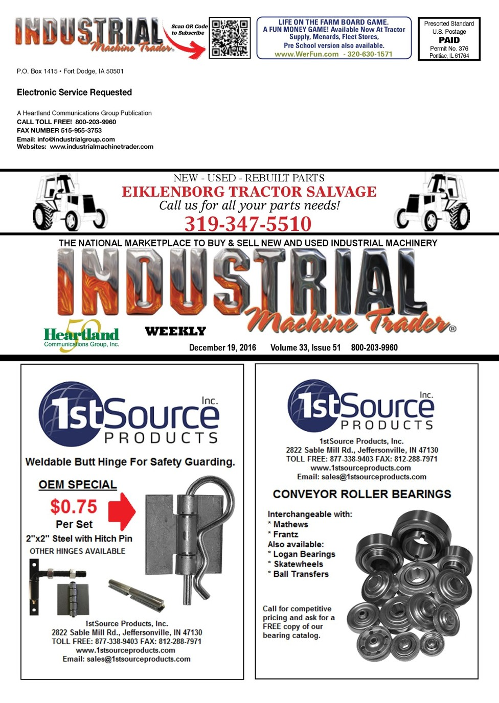 December 19, 2016 - Industrial Machine Trader