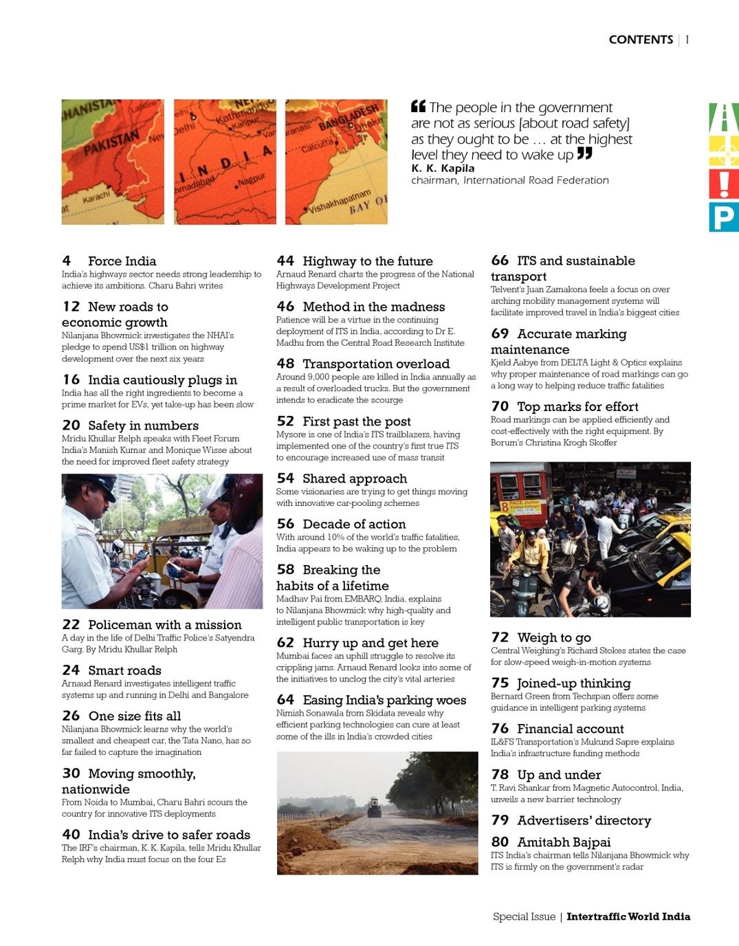 India 2011 Special Issue Intertraffic World - UKi