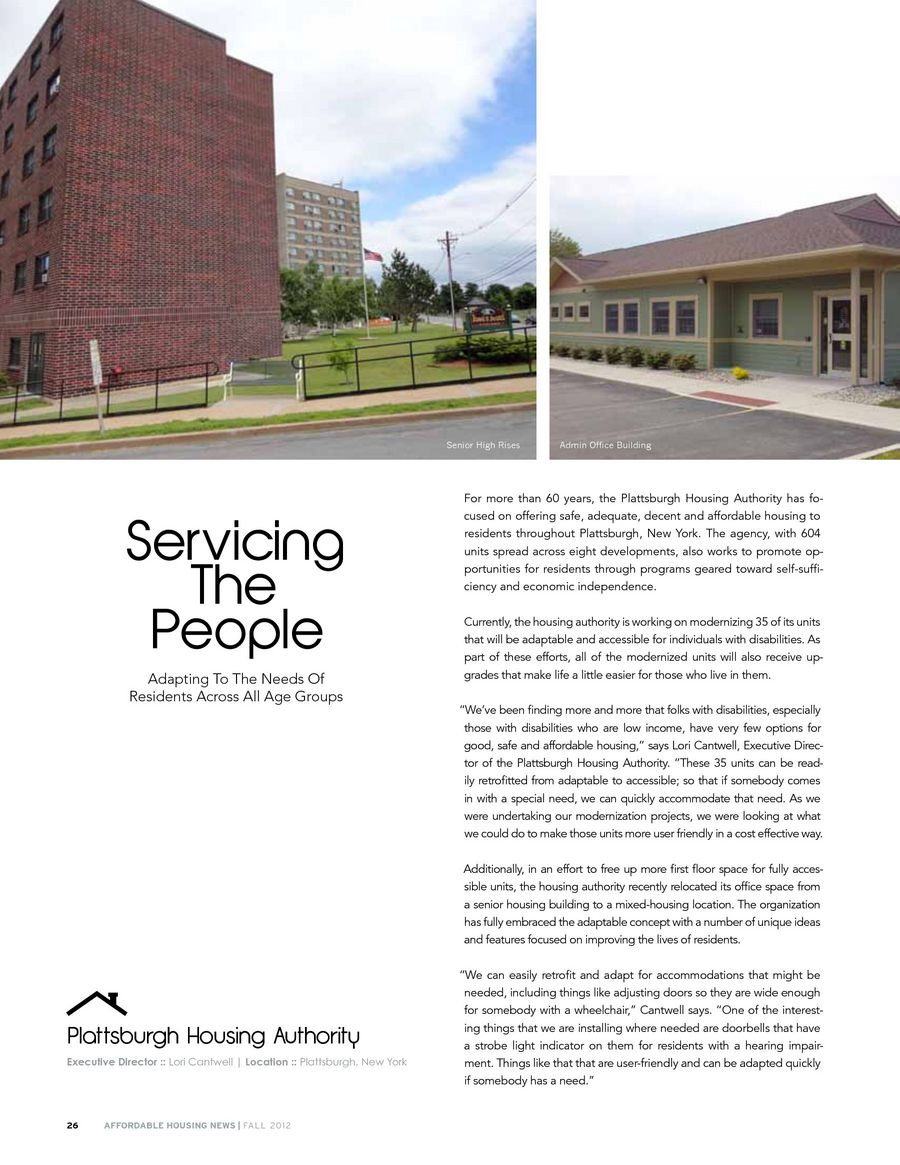 Affordable Housing News, Fall 2012 issue