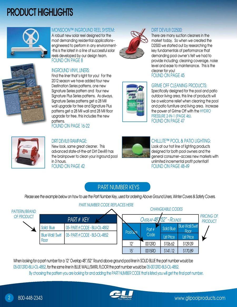 GLI Pool Products - Catalog