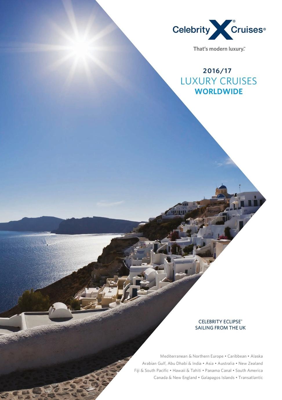 2016-17 Celebrity Cruises Brochure (ROI)