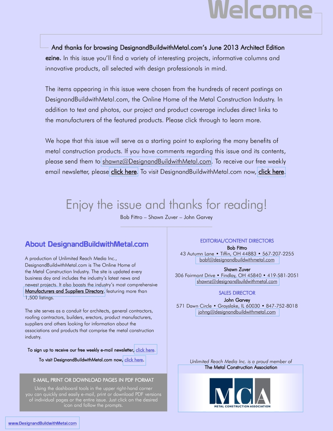 DesignandBuildwithMetal com Architect Edition June 2013