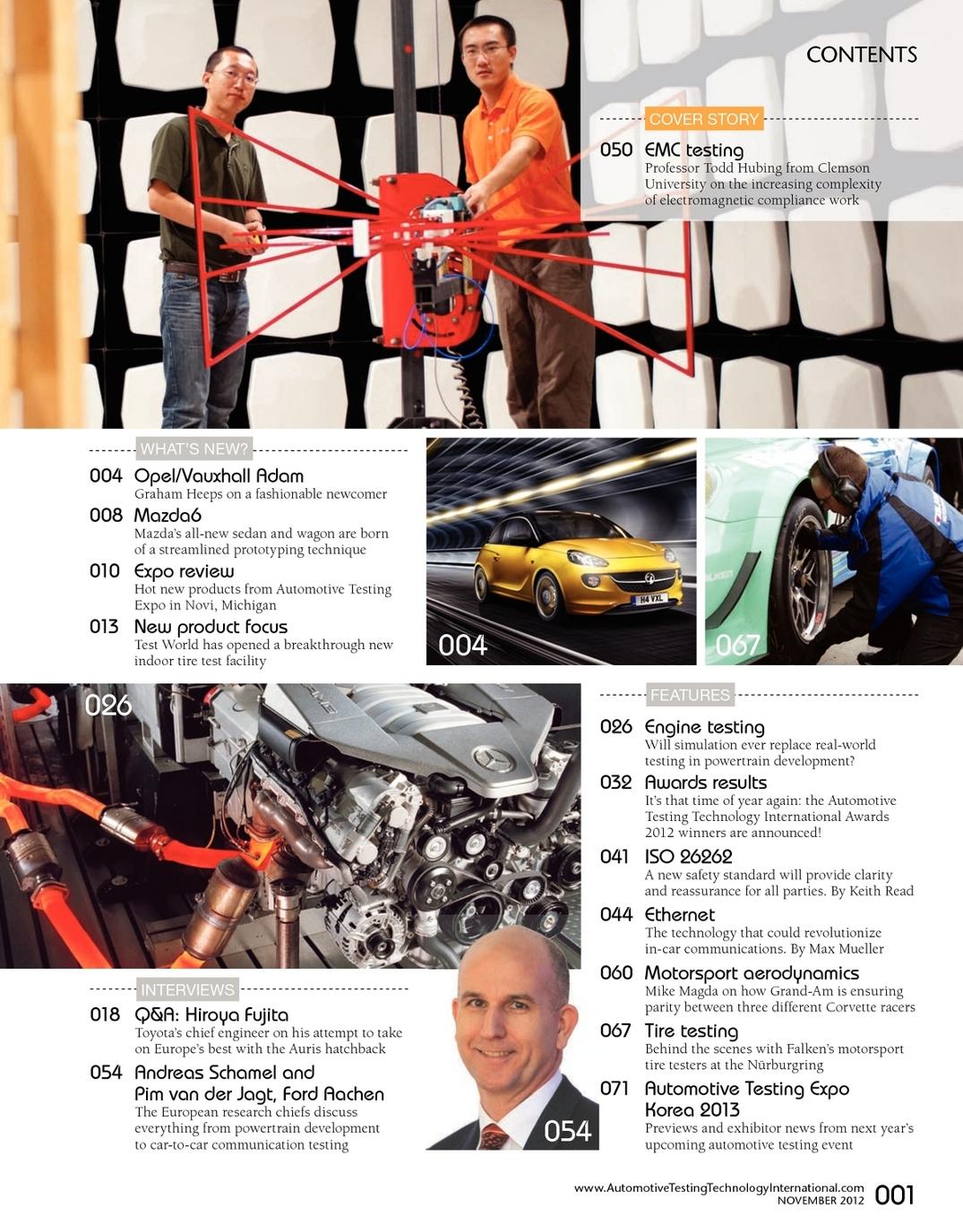 November 2012 Automotive Testing Technology International - UKi ...