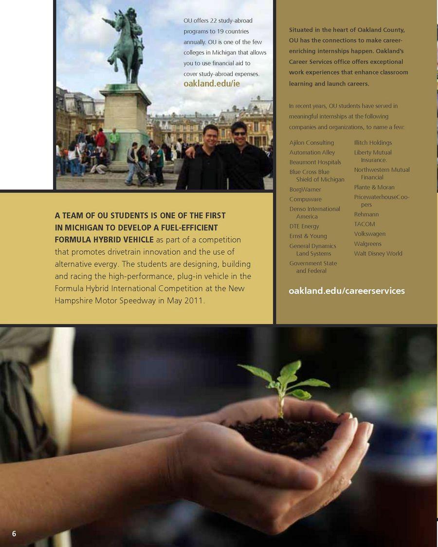 Oakland University Viewbook - 2010