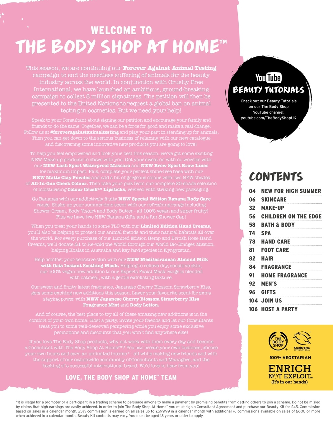 The Body Shop At Home High Summer 2018 Catalogue
