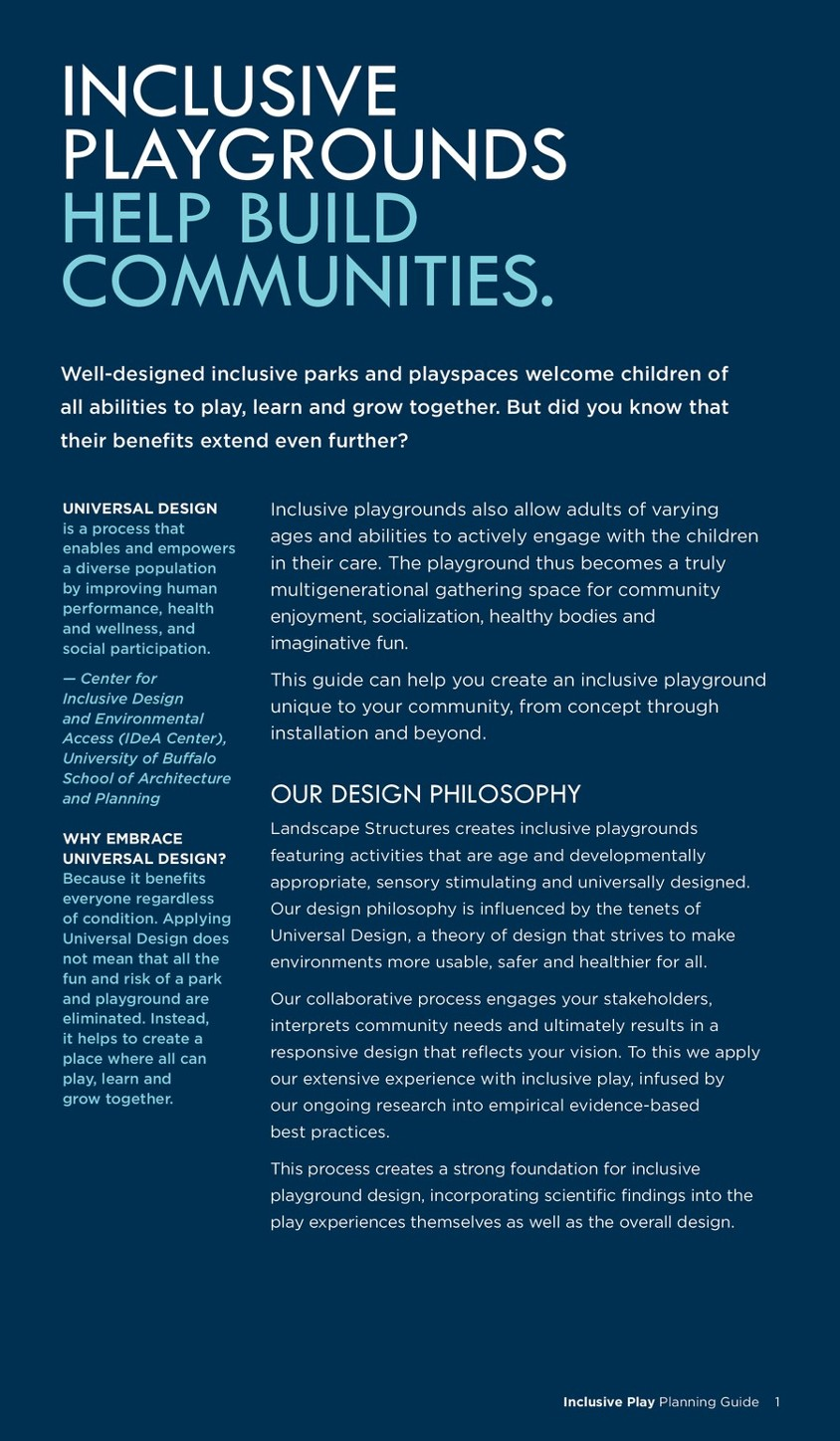 Inclusive Play Planning Guide | Landscape Structures