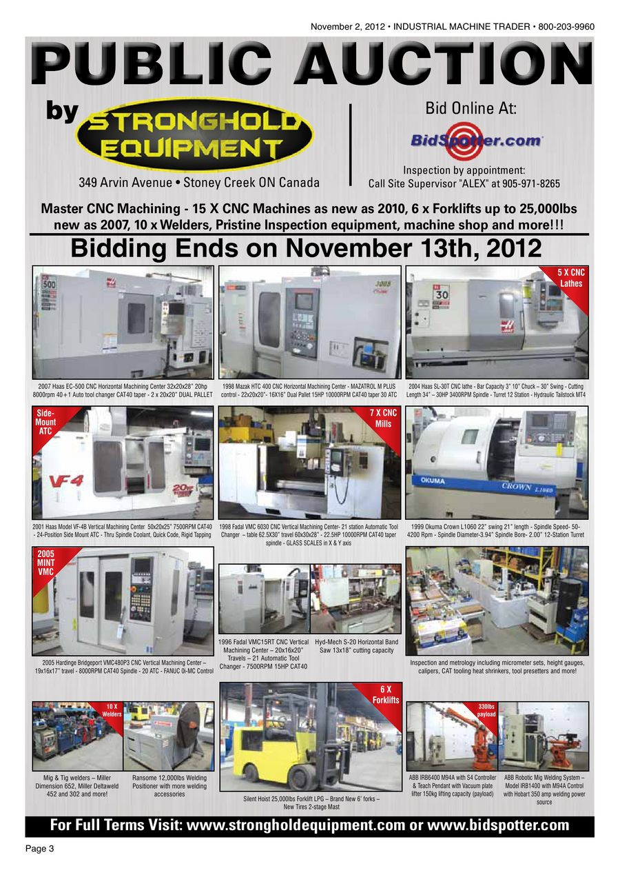 Industrial Machine Trader® November 2, 2012