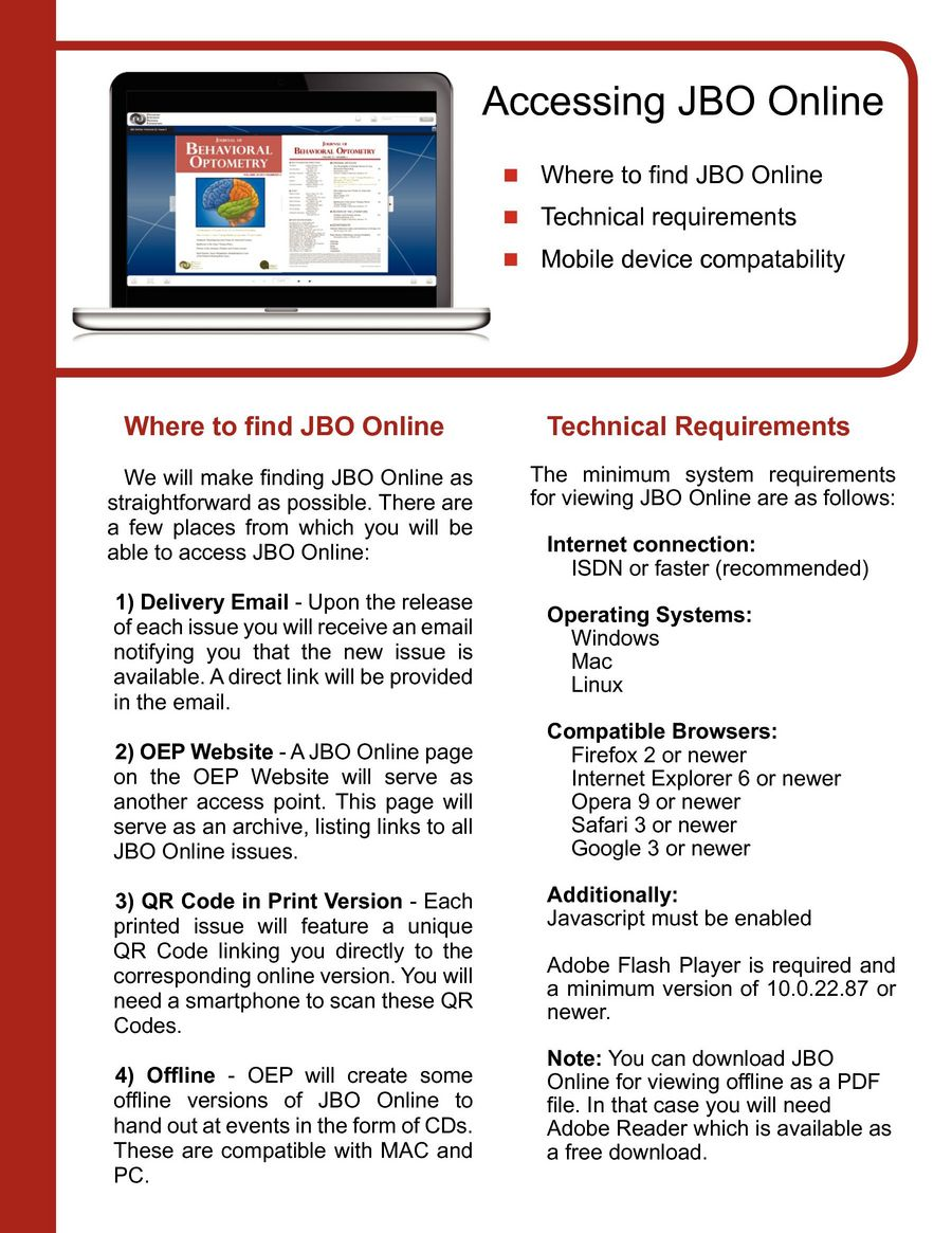 OEP presents JBO Online