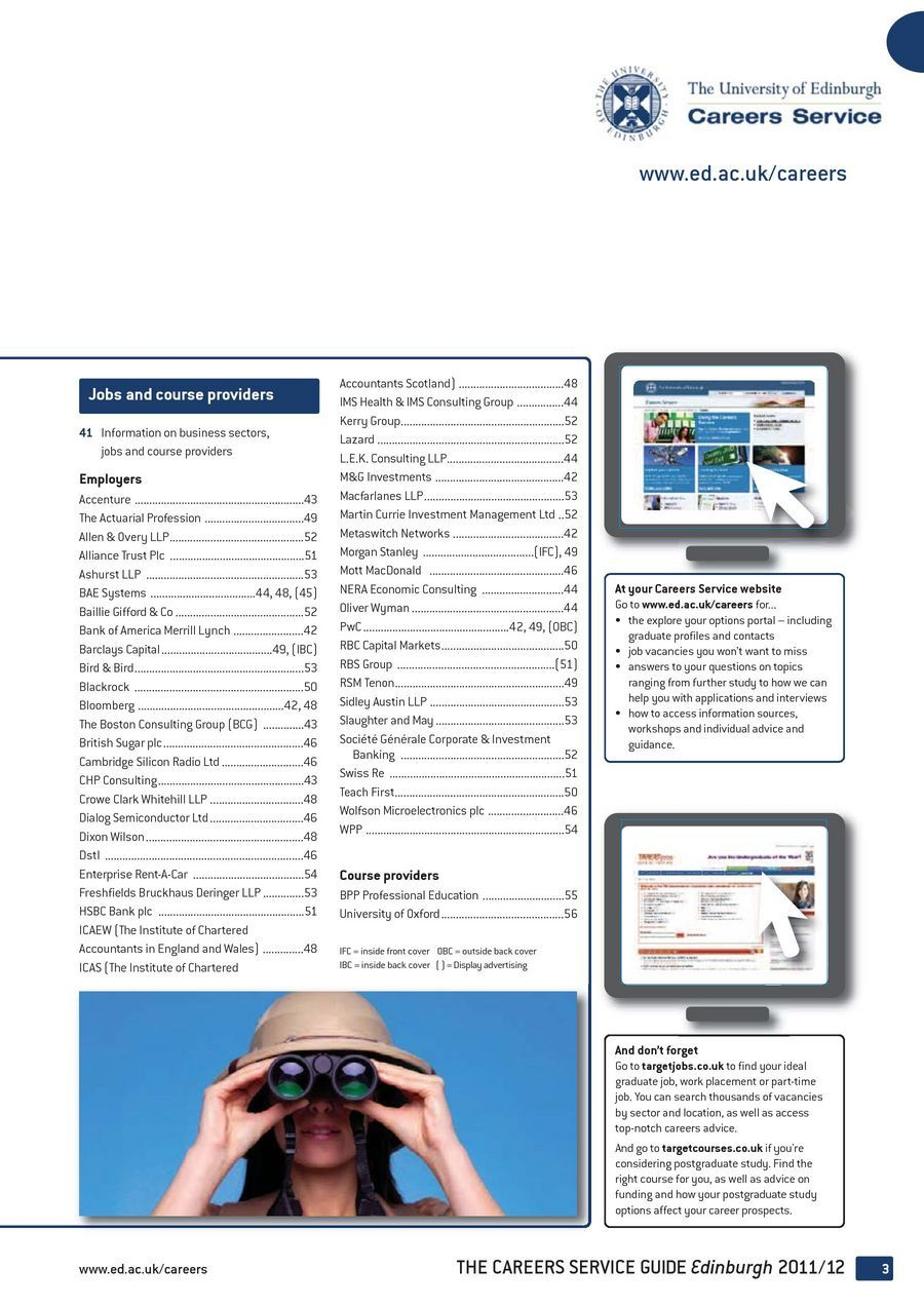 Edinburgh Careers Service Guide 2012 pdf
