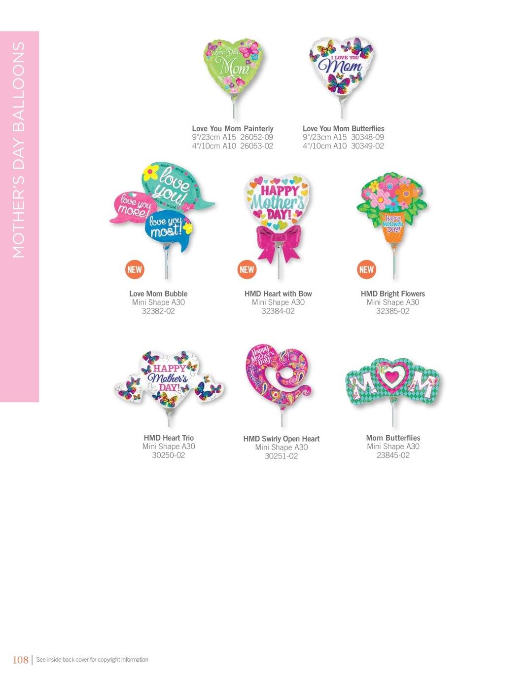 Multicolor Anagram International Hx Love You Heart Stripes Balloon