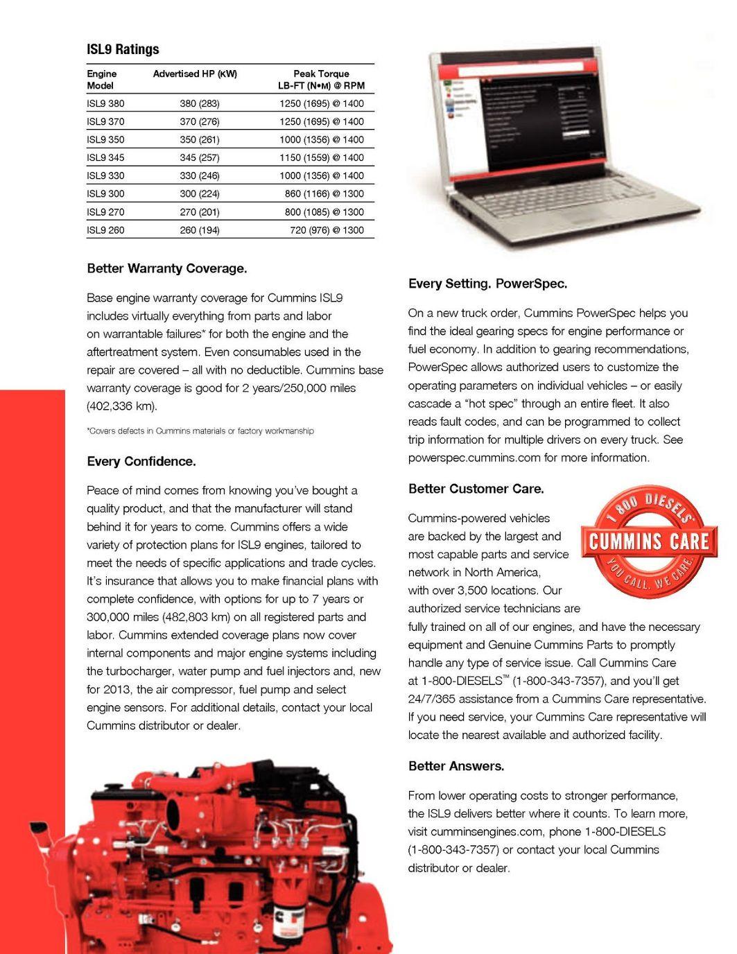 Cummins2013-ISL9 Brochure