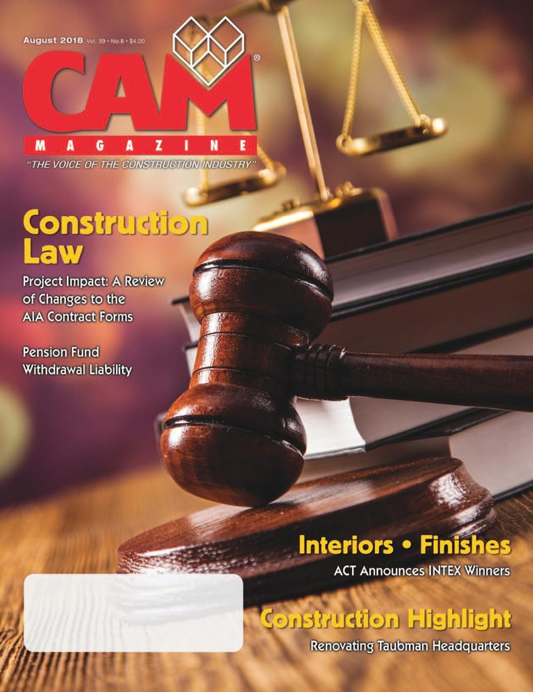 August 2018 CAM Magazine