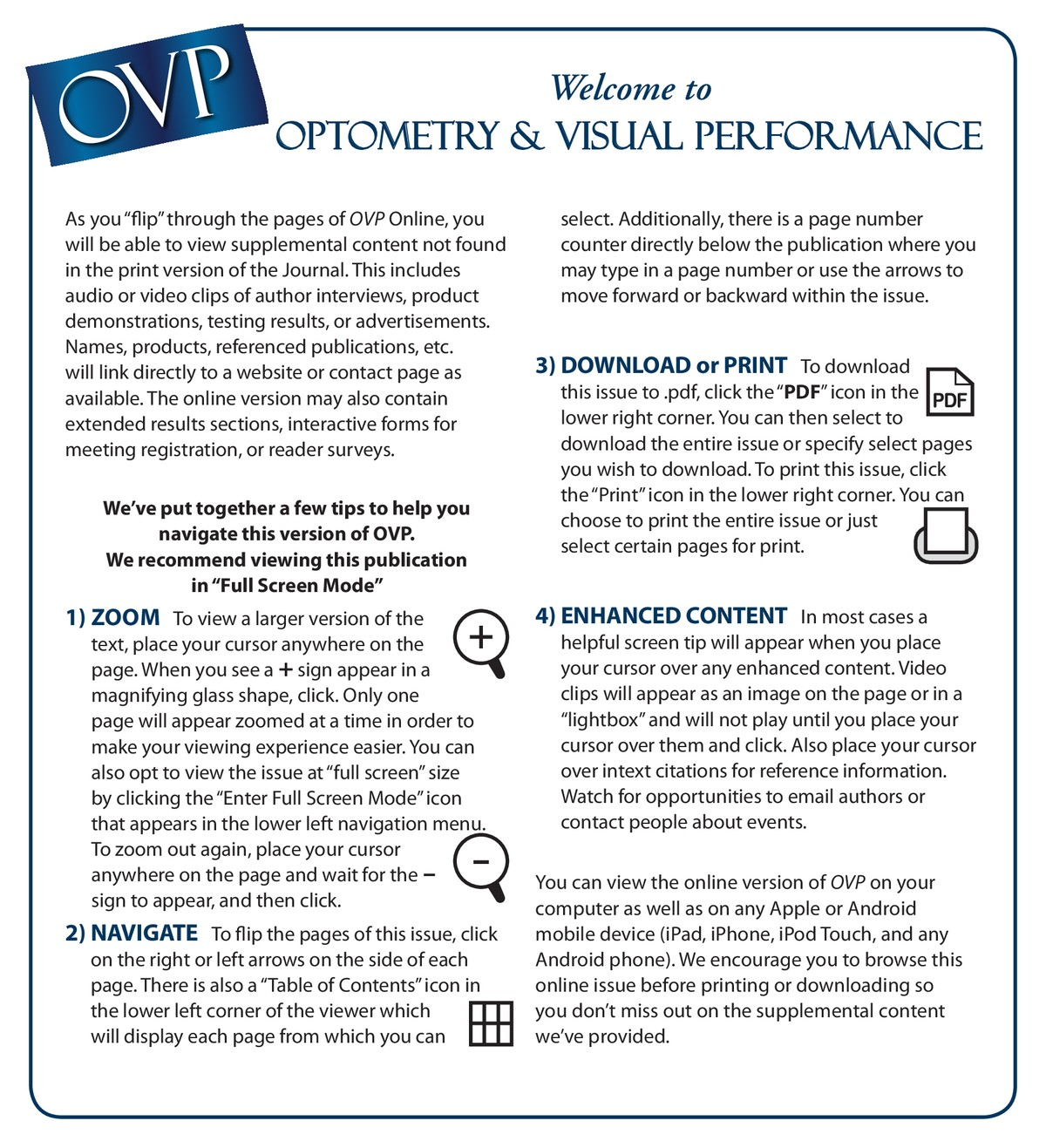 Optometry & Visual Performance