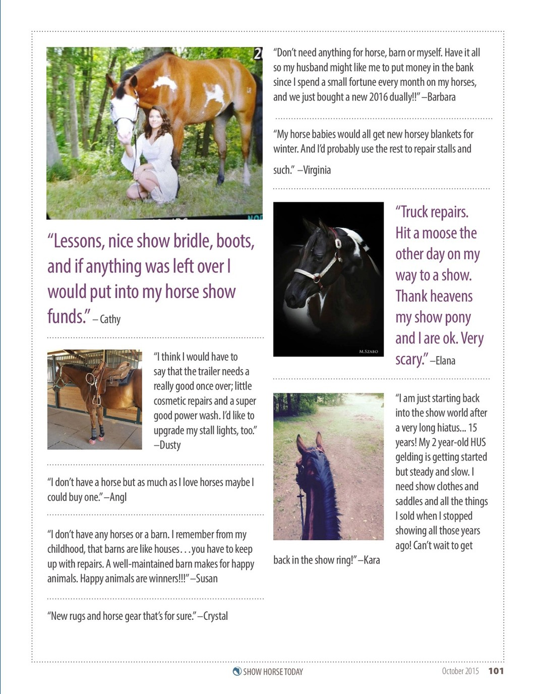 Show Horse Today October 2015 Issue