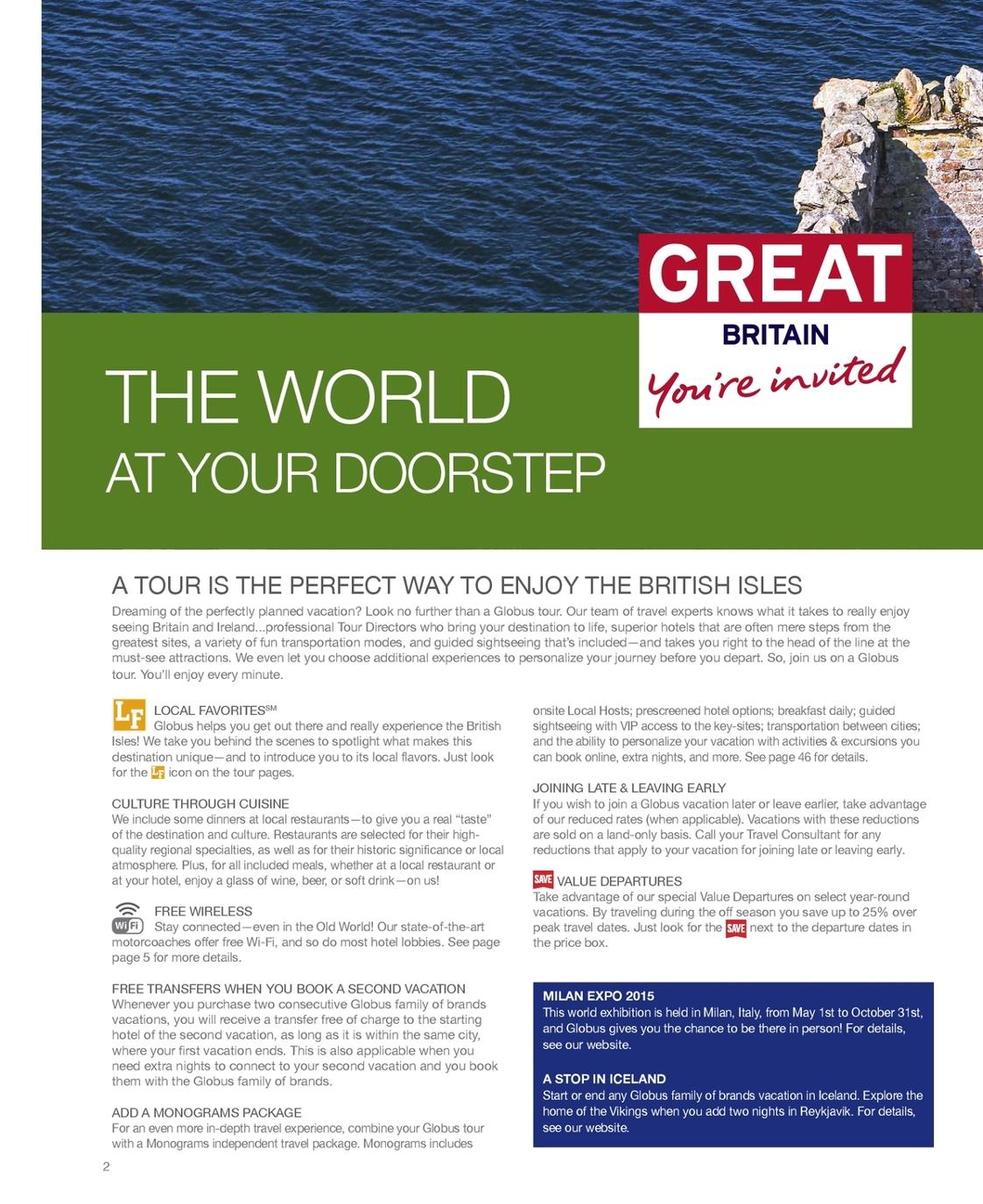 2015 Globus Britain & Ireland Brochure