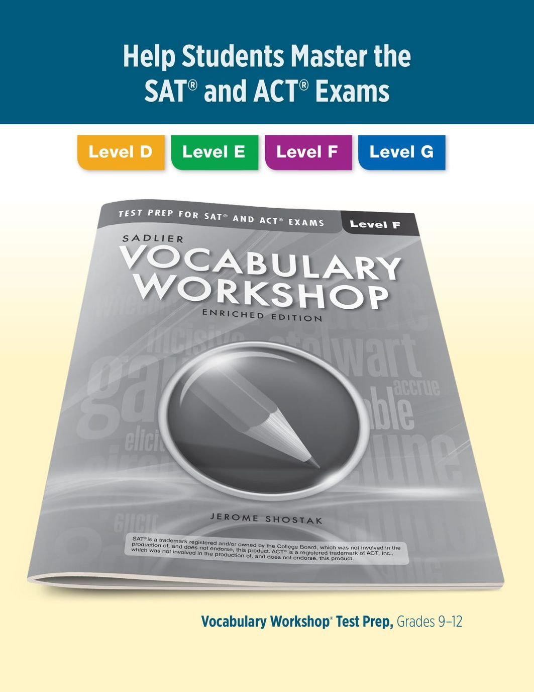 Vocabulary workshop test prep for sat and act exams page 1 fandeluxe Gallery