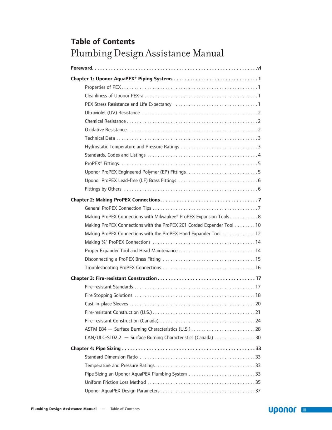Plumbing Design Assistance Manual (PDAM)