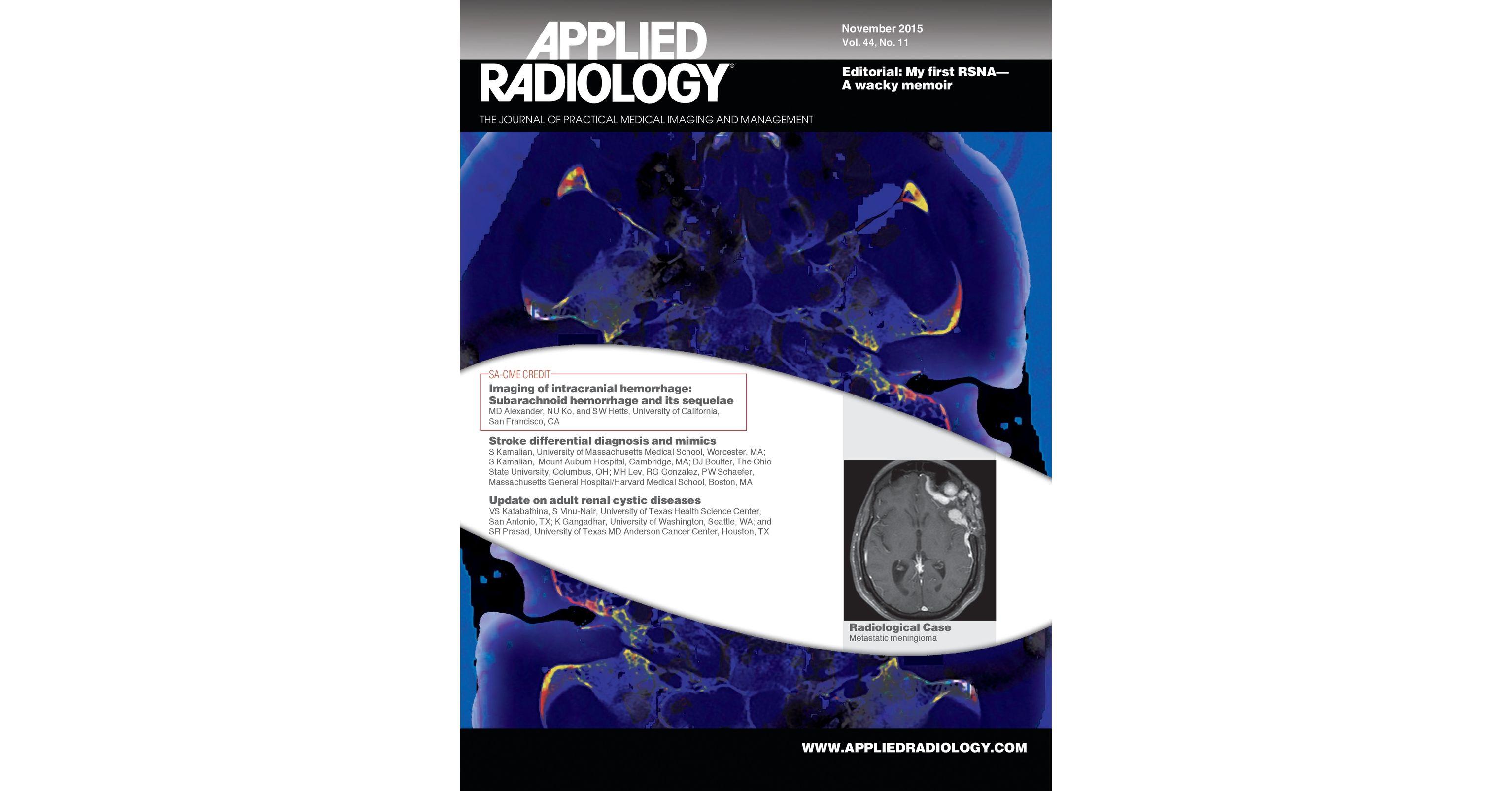 November 2015 Applied Radiology