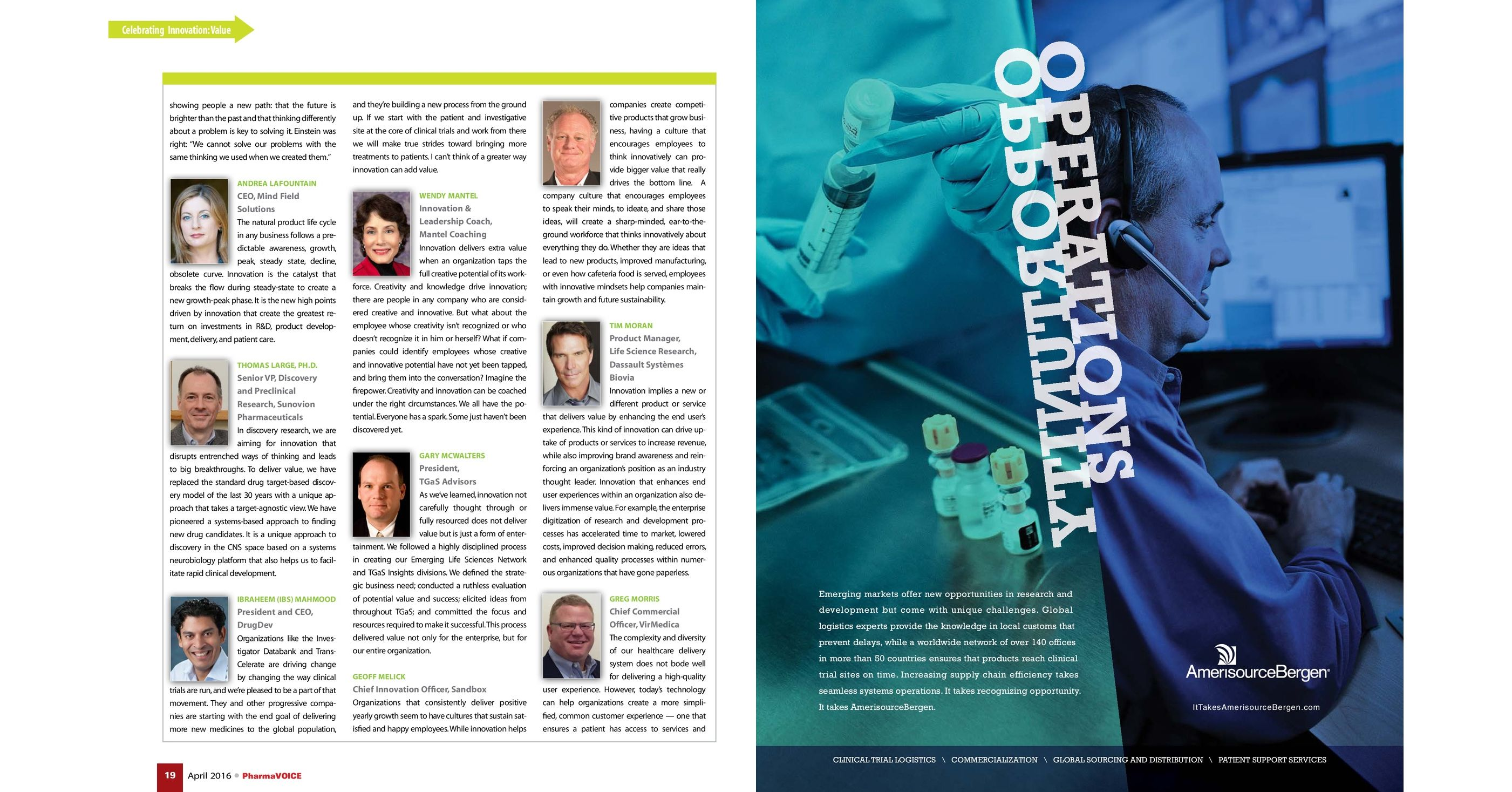 PharmaVOICE | April 2016