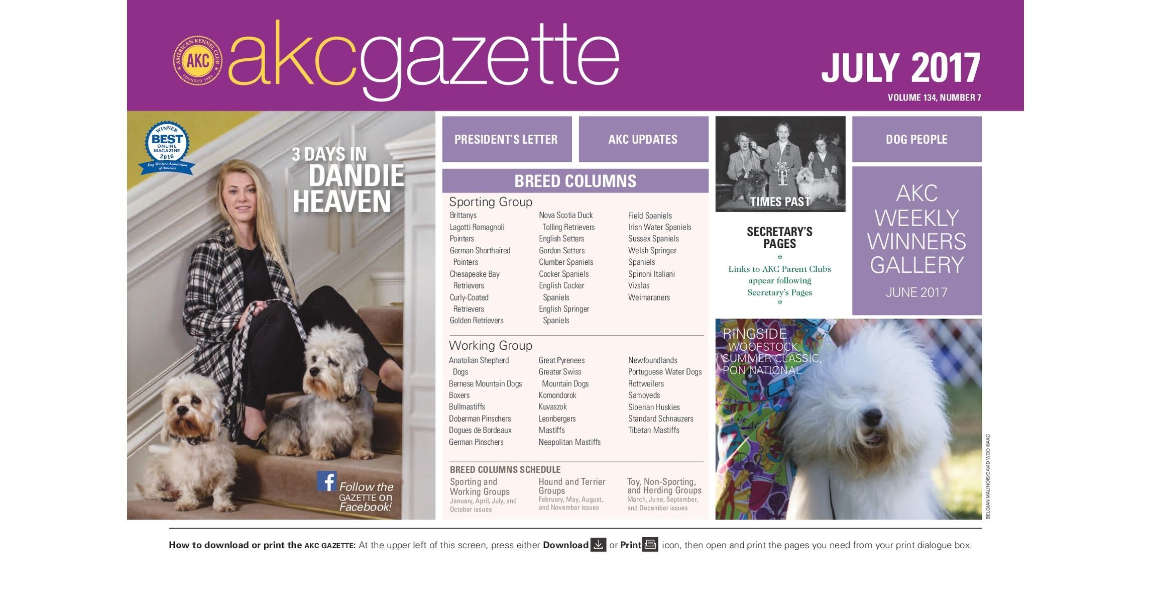 AKC Gazette July 2017